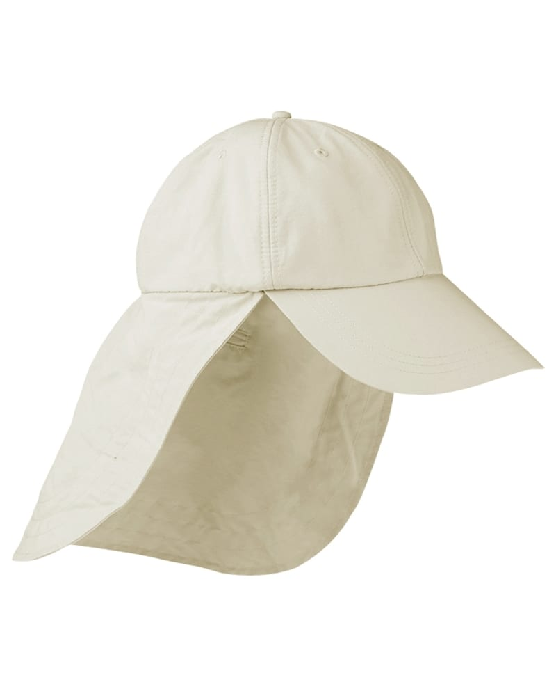 Adams EOM101 - 6-Panel UV Low-Profile Cap with Elongated Bill and Neck Cape