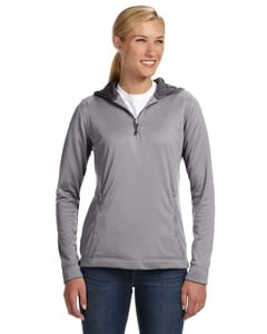 Russell Athletic FS8EFX - Ladies Tech Fleece Quarter-Zip Pullover Hood