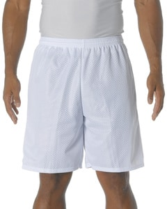 "A4 N5296 - Lined 9"" Inseam Tricot Mesh Shorts"