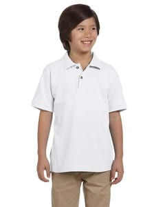 Harriton M200Y - Youth 6 oz. Ringspun Cotton Piqué Short-Sleeve Polo