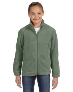 Harriton M990Y - Youth 8 oz. Full-Zip Fleece