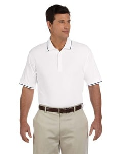 Devon & Jones D113 - Mens Pima Piqué Short-Sleeve Tipped Polo
