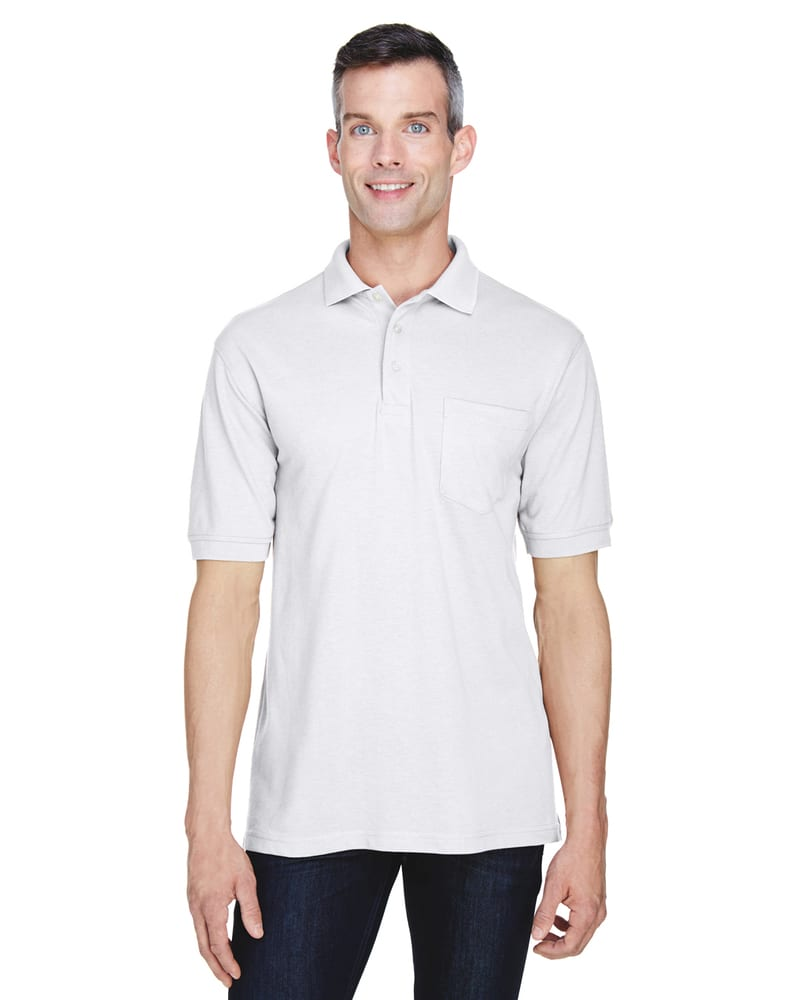Harriton M265P - 5.6 oz. Easy Blend™ Polo 
