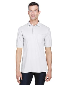 Harriton M265P - 5.6 oz. Easy Blend™ Polo with Pocket