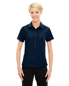 Ash City North End 78675 - Ladies Charge Recycled Polyester Performance Short-Sleeve Shirt