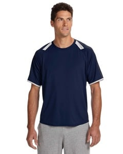 Russell Athletic 6B6DPM - Dri-Power® T-Shirt with Colorblock Inserts