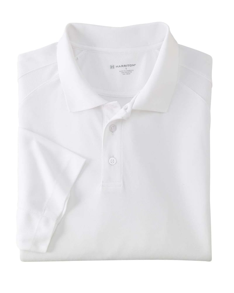 Harriton M374 - Men's 3.8 oz. Polytech Mesh Insert Polo