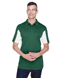 Harriton M355 - Mens Side Blocked Micro-Piqué Polo