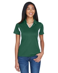 Harriton M355W - Ladies Side Blocked Micro-Piqué Polo