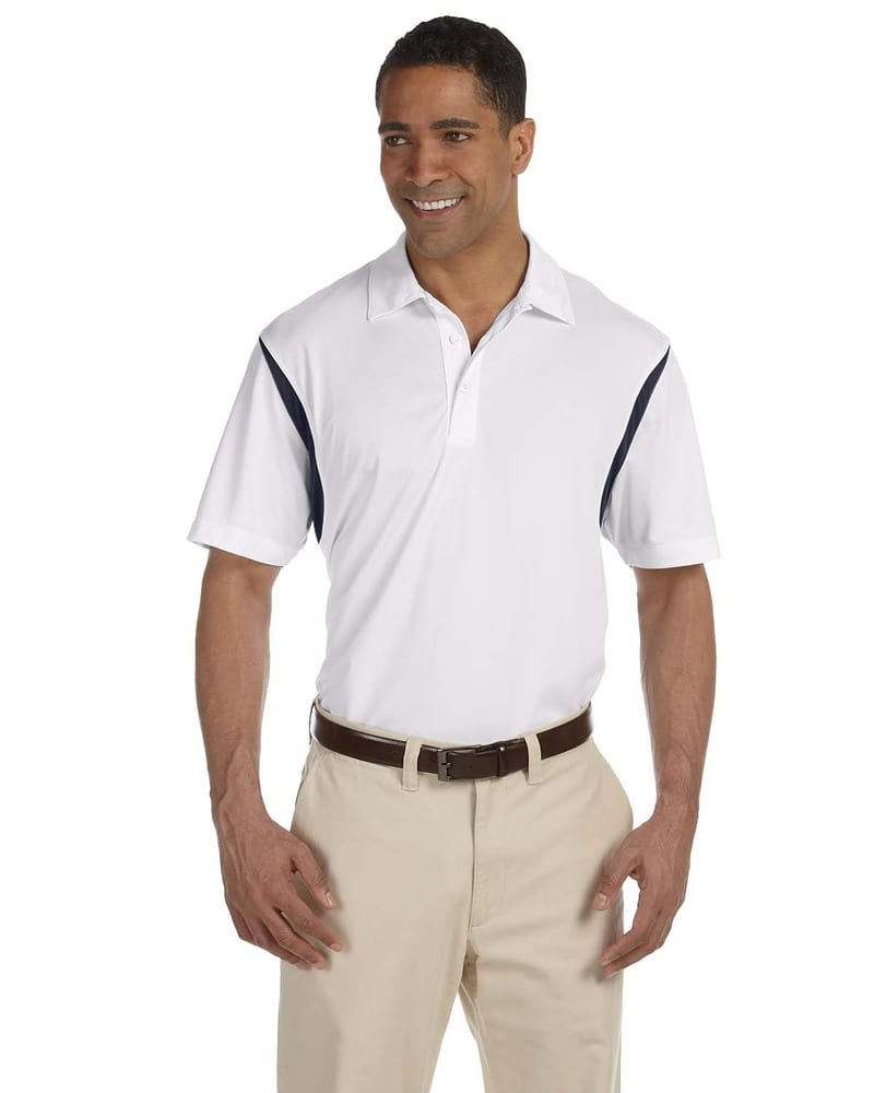 Harriton M356 - Men's Back Blocked Micro-Piqué Polo