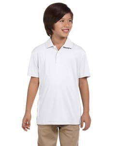 Harriton M353Y - Youth Double Mesh Sport Shirt