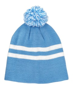 Team 365 TT122 - Striped Pom Beanie