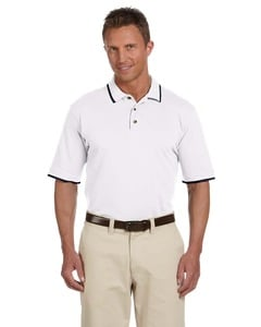 Harriton M210 - 6 oz. Short-Sleeve Piqué Polo with Tipping