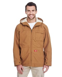 Dickies TJ350 - 8.5 oz. Sanded Duck Sherpa Lined Hooded Jacket