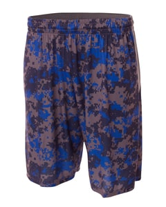 "A4 N5322 - Adult 10"" Inseam Printed Camo Performance Shorts"