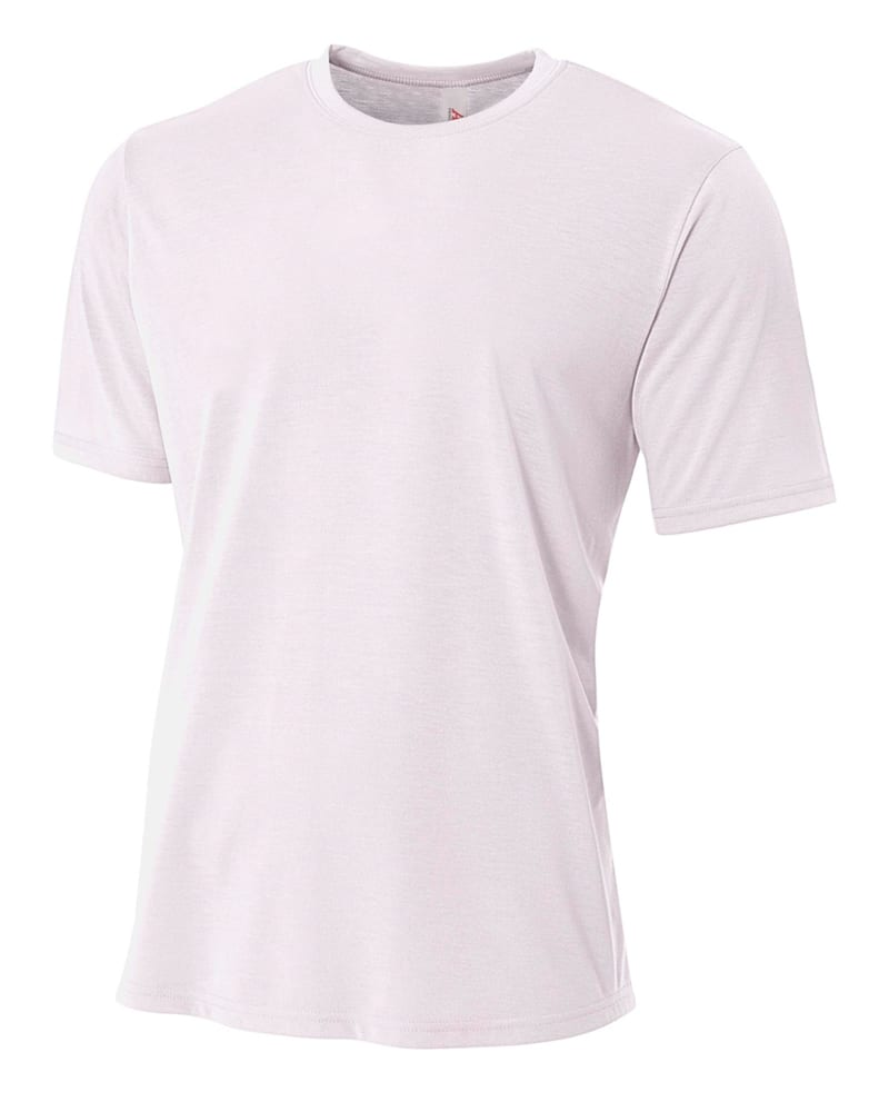 A4 N3264 - Men's Shorts Sleeve Spun Poly T-Shirt
