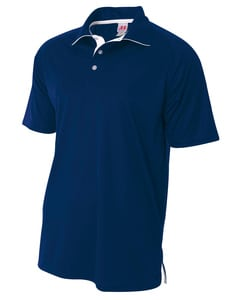 A4 N3293 - Mens Contrast Polo Shirt