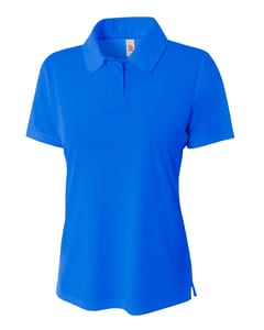 A4 NW3261 - Ladies Solid Interlock Polo