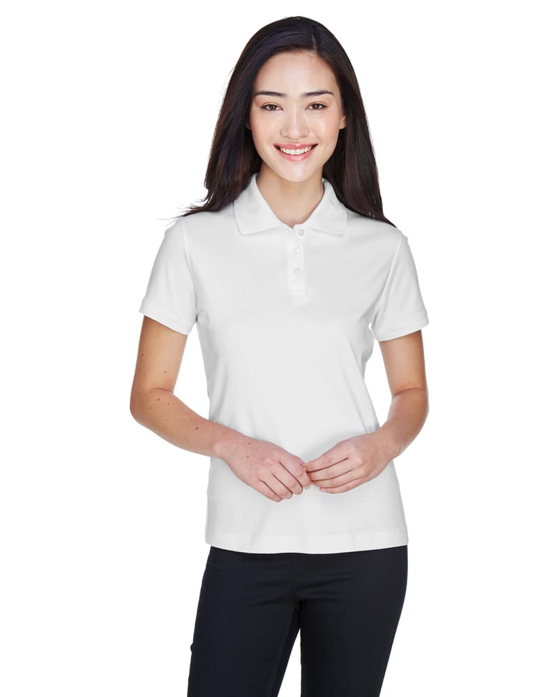 Devon & Jones D140SW - Ladies Solid Perfect Pima Interlock Polo