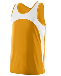 Augusta 340 - Adult Wicking Polyester Sleeveless Jersey with Contrast Inserts