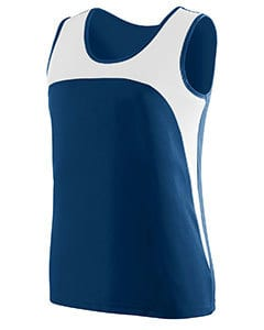 Augusta 342 - Ladies Wicking Polyester Sleeveless Jersey with Contrast Inserts