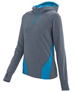 Augusta 4812 - Ladies Wicking Brushed Back Poly/Span Quarter-Zip Hoody