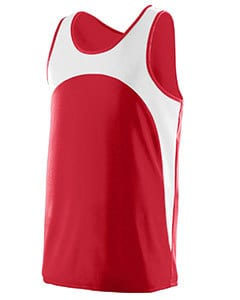 Augusta 341 - Youth Wicking Polyester Sleeveless Jersey with Contrast Inserts
