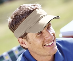 Big Accessories BT3V - Washed Twill Sandwich Visor