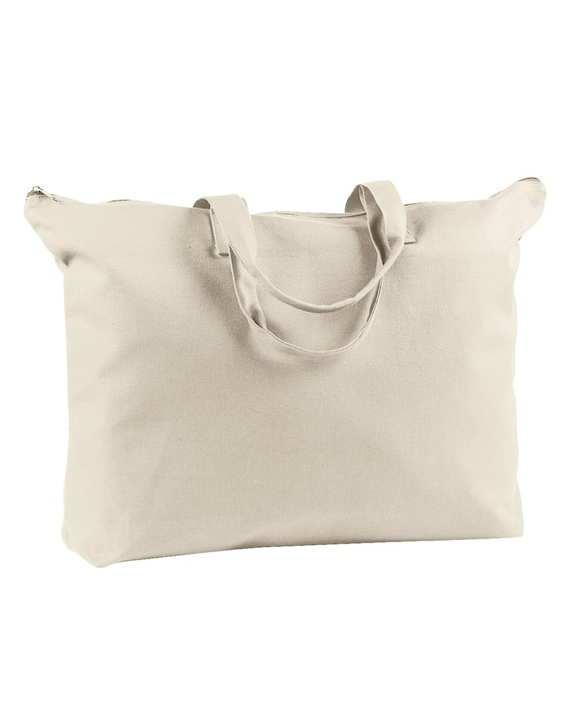 BAGedge BE009 - 12 oz. Canvas Zippered Book Tote