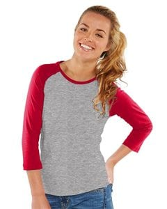 LAT 3630 - Womens Junior Fit Baseball Fine Jersey Tee