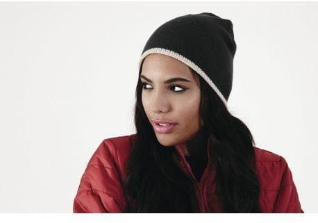 Beechfield BF44C - Two-tone pull on beanie