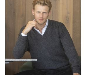 Henbury HY730 - Mens V Neck Lambswool Jumper