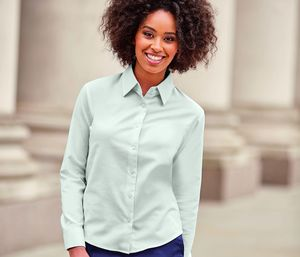 Russell Collection JZ32F - Ladies Long Sleeve Easy Care Oxford Shirt