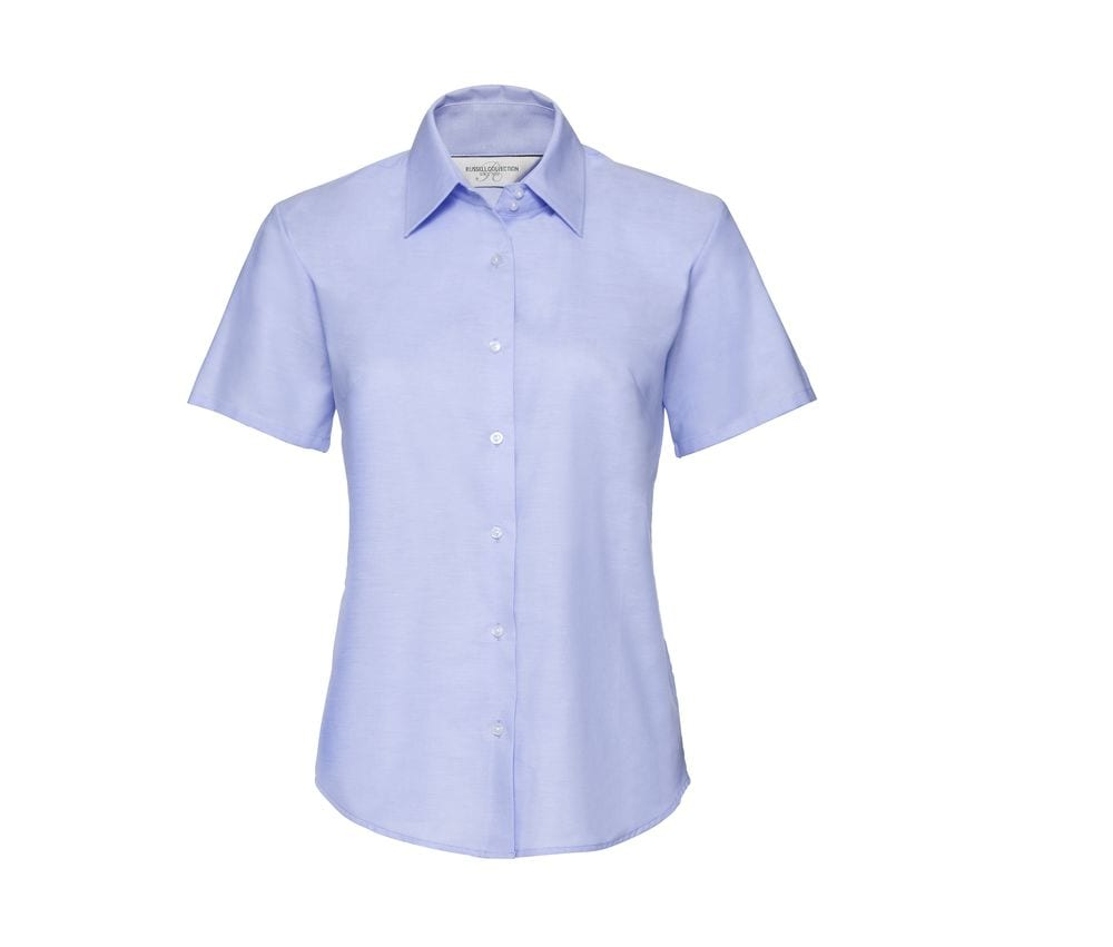 Russell Collection JZ33F - Camisa De Senhora De Manga Comprida - Easy Care Oxford