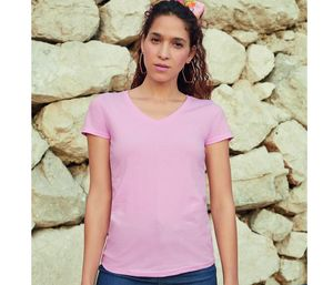 Fruit of the Loom SC601 - T-shirt Lady-Fit Value Weight scollo a V