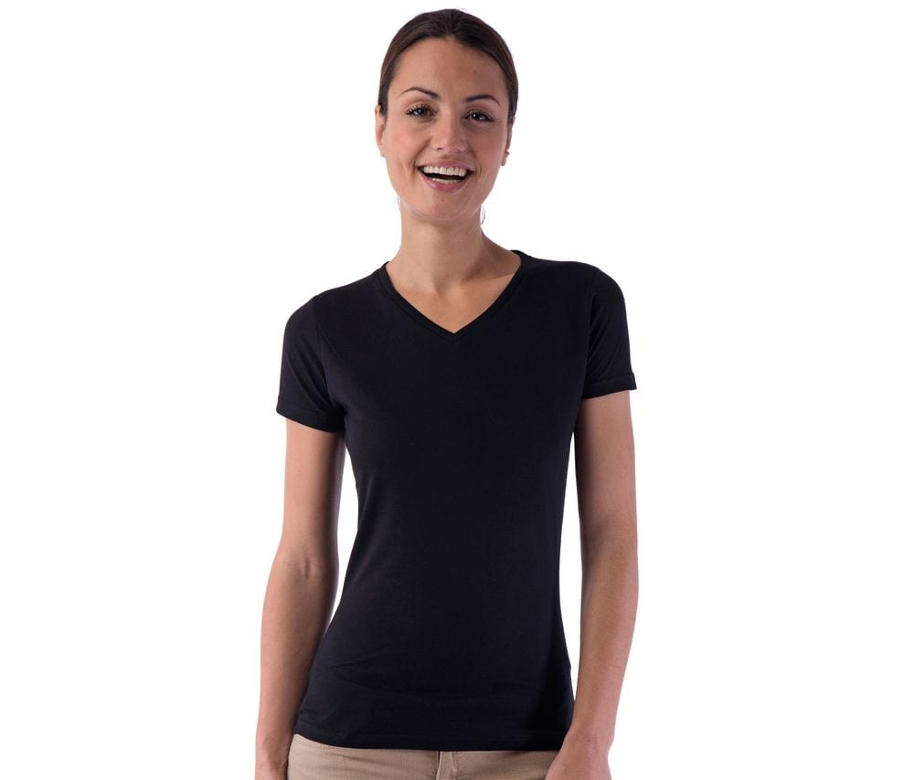 SANS Étiquette SE634 - Ladies' no label V-neck t-shirt