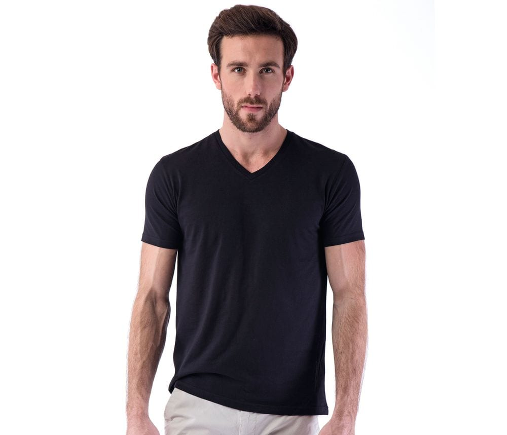 SANS Étiquette SE683 - Men's  No Label V Neck T-Shirt