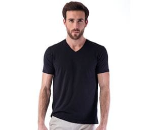 SANS Étiquette SE683 - Heren No Label V-hals T-shirt