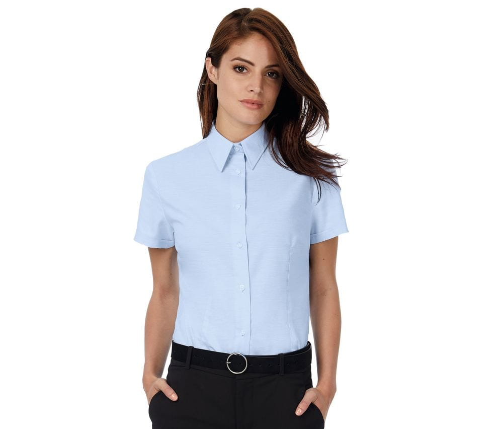 B&C BC703 - Oxford Short Sleeves Women
