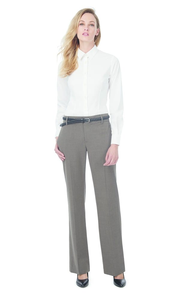 B&C BC711 - Ladies' Black Tie Elastane Long Sleeve Poplin