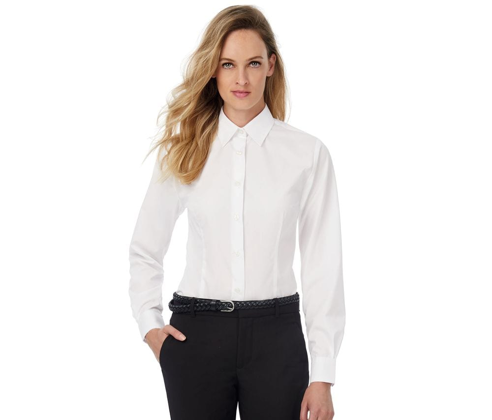 B&C BC722 - Ladies' Smart Long Sleeve Poplin Shirt