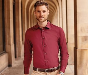 Russell Collection JZ946 - Mens Long Sleeve Fitted Shirt