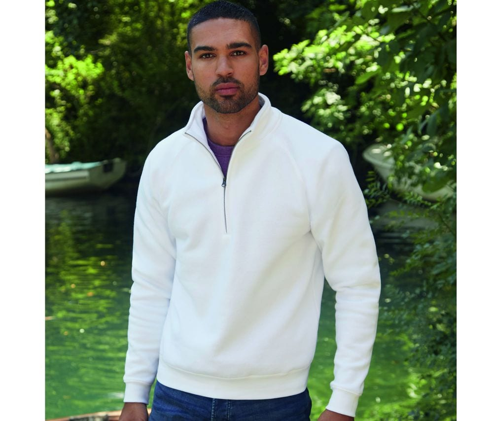 Fruit of the Loom SC276 - Zip Neck Sweat (62-032-0)