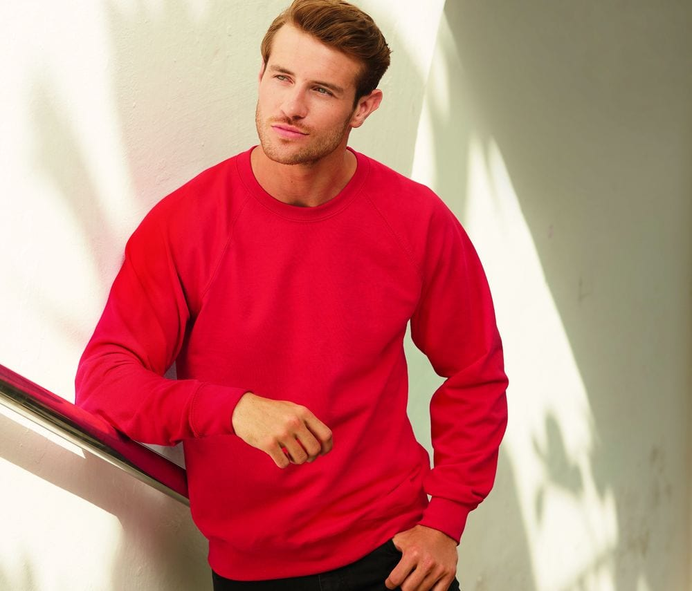 FRUIT OF THE LOOM SC360 - Lightweight Raglan Sweat