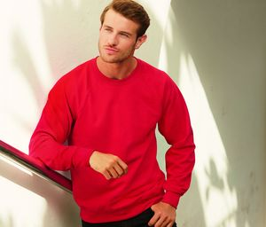 Fruit of the Loom SC360 - Felpa uomo raglan leggera