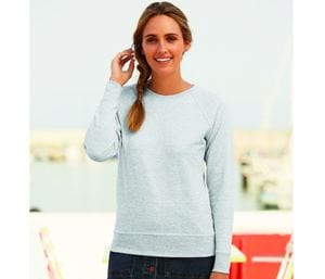 Fruit of the Loom SC361 - Sweatshirt Raglan de Peso Leve - Lady-Fit