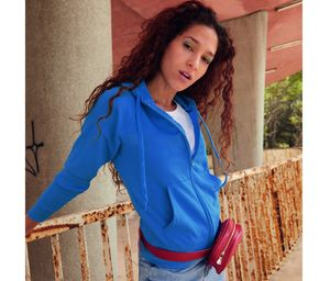 FRUIT OF THE LOOM SC368 - Lady-fit Lightweight Hooded Sweat Jacket
