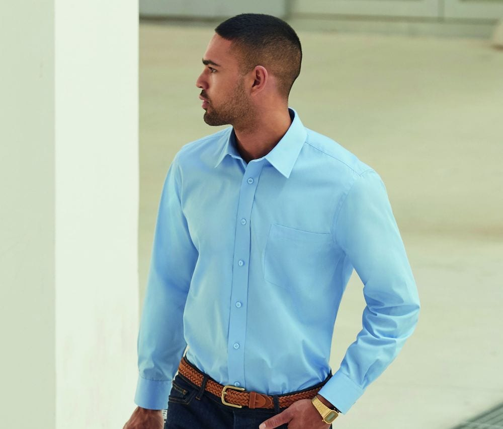 Fruit of the Loom SC410 - Poplin long sleeve shirt