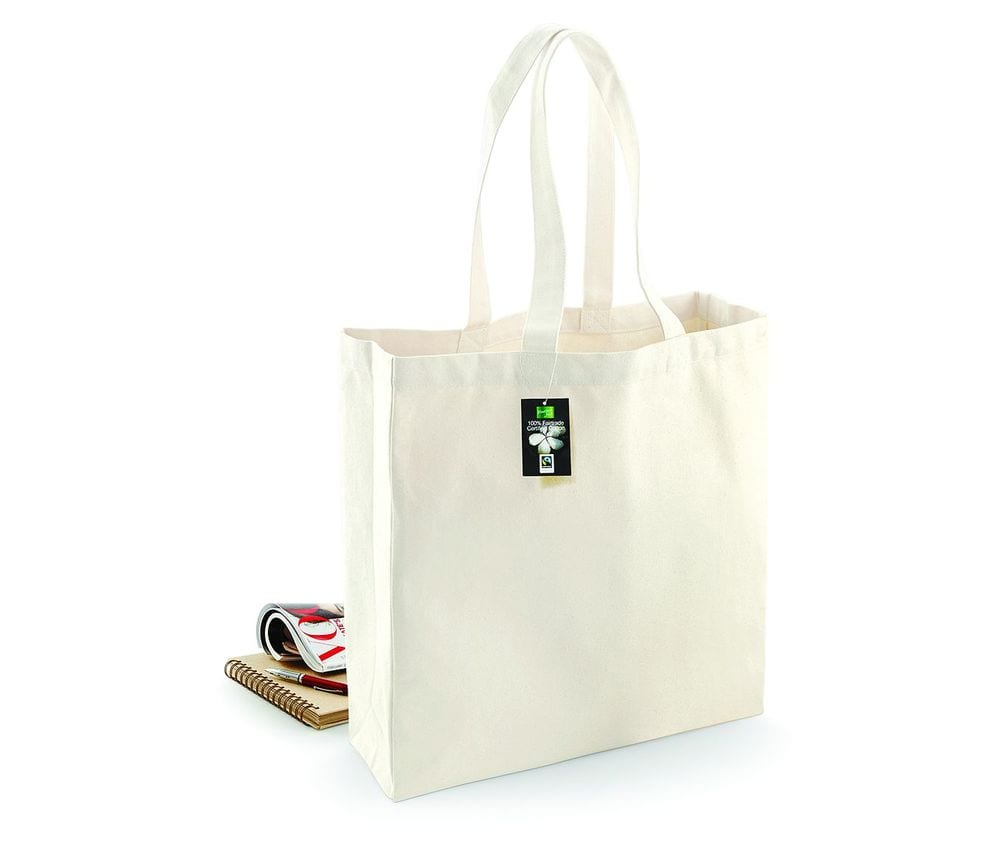 WESTFORD MILL WM623 - Fairtrade Cotton Classic Shopper