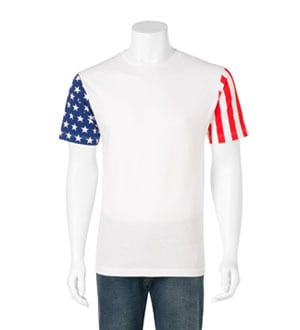 Code Five 3976 - ADULT STARS AND STRIPES T-SHIRT